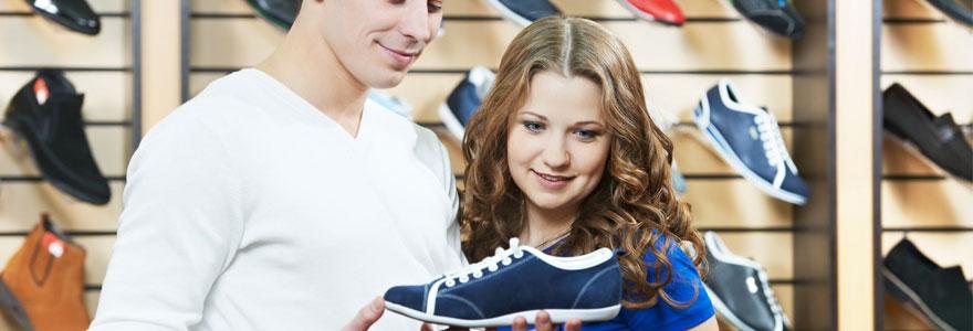 nouveau look en achetant des chaussures tendance